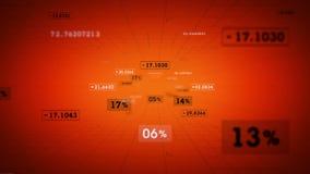 Το πορτοκάλι ποσοστών και τιμών μετακινείται διανυσματική απεικόνιση