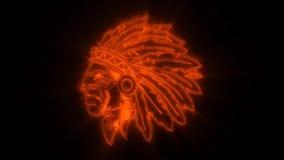 Το πορτοκαλί ινδικό ζωντανεψοντα πολεμιστής λογότυπο με αποκαλύπτει την επίδραση διανυσματική απεικόνιση