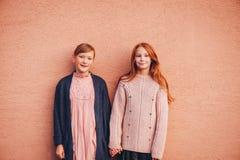 Το πορτρέτο δύο όμορφων λίγα τα κορίτσια Στοκ Εικόνες