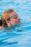 το πορτρέτο κολυμπά Στοκ Εικόνες