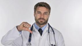 Το πορτρέτο του γιατρού Gesturing φυλλομετρεί κάτω απόθεμα βίντεο