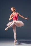 Το πορτρέτο του ballerina στο μπαλέτο θέτει Στοκ Εικόνες