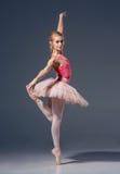 Το πορτρέτο του ballerina στο μπαλέτο θέτει Στοκ εικόνες με δικαίωμα ελεύθερης χρήσης