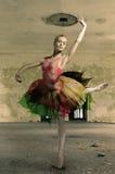Το πορτρέτο του ballerina στο μπαλέτο θέτει Στοκ Φωτογραφία