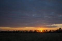 Το πορφυρό ηλιοβασίλεμα Στοκ εικόνα με δικαίωμα ελεύθερης χρήσης