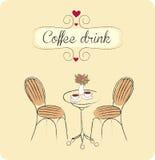 το ποτό καφέ απομόνωσε το λευκό Στοκ Εικόνες
