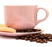 Το ποτό φασολιών καφέ αντιπροσωπεύει την καφετέρια και τον καφέ καφεΐνης στοκ εικόνες με δικαίωμα ελεύθερης χρήσης