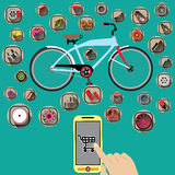 Το ποδήλατο αγοράζει Στοκ εικόνες με δικαίωμα ελεύθερης χρήσης