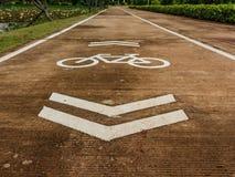 Το ποδήλατο τραγουδά Στοκ Εικόνες