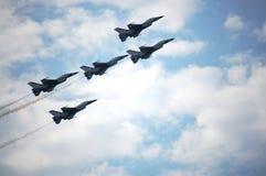 Το πολεμικό αεροπλάνο παρουσιάζει στην Ταϊλάνδη Στοκ Φωτογραφίες