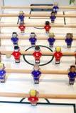Το ποδοσφαιρικό παιχνίδι επιτραπέζιου ποδοσφαίρου βλέπει άνωθεν Στοκ εικόνες με δικαίωμα ελεύθερης χρήσης