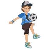 Το ποδόσφαιρο boy Στοκ Εικόνα