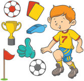 Το ποδόσφαιρο boy Στοκ φωτογραφία με δικαίωμα ελεύθερης χρήσης
