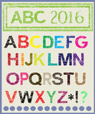 Το πολύχρωμο αλφάβητο που θα φωτίσει τη διάθεση Στοκ εικόνες με δικαίωμα ελεύθερης χρήσης