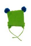 Το πράσινο καπέλο μωρών, απομονώνει Στοκ Εικόνες