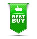 Το πράσινο καλύτερο σχεδίου εμβλημάτων αγοράζει διανυσματική απεικόνιση