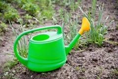 Το πράσινο πότισμα μπορεί Στοκ εικόνα με δικαίωμα ελεύθερης χρήσης
