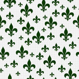 Το πράσινο σχέδιο Fleur-de-Lis επαναλαμβάνει το υπόβαθρο Στοκ φωτογραφίες με δικαίωμα ελεύθερης χρήσης