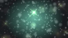 Το πράσινο bokeh ανάβει τα μόρια και starglow απεικόνιση αποθεμάτων