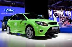 Το πράσινο Ford Focus Στοκ εικόνες με δικαίωμα ελεύθερης χρήσης