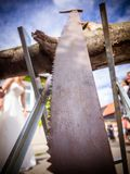 Το πριόνι sawhorse Στοκ φωτογραφίες με δικαίωμα ελεύθερης χρήσης