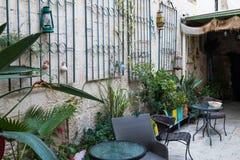 Το προαύλιο του Michel House στην παλαιά πόλη της Ναζαρέτ στο προαύλιο IsrThe του Michel House στην παλαιά πόλη της Ναζαρέτ σε Is Στοκ φωτογραφία με δικαίωμα ελεύθερης χρήσης