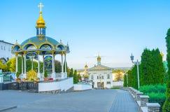 Το προαύλιο Pochayiv Lavra Στοκ φωτογραφία με δικαίωμα ελεύθερης χρήσης