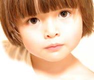 το προσεκτικό παιδί κοιτά Στοκ φωτογραφία με δικαίωμα ελεύθερης χρήσης
