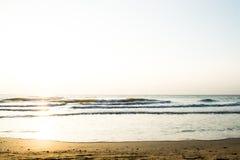 Το πρωί στο υπόβαθρο θάλασσας Στοκ εικόνες με δικαίωμα ελεύθερης χρήσης