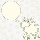 Το πρόβατο κινούμενων σχεδίων συγχαίρει Στοκ Εικόνα
