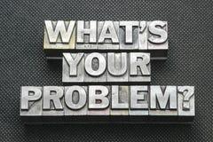 Το πρόβλημά σας ρωτά το BM στοκ φωτογραφία