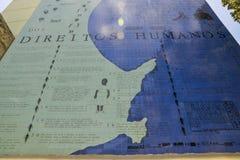 Το πρόγραμμα εκθέτει τα ανθρώπινα δικαιώματα και τη λυπημένη βραζιλιάνα κληρονομιά της σκλαβιάς Στοκ φωτογραφίες με δικαίωμα ελεύθερης χρήσης