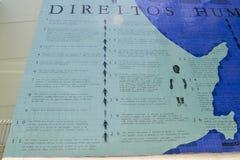 Το πρόγραμμα εκθέτει τα ανθρώπινα δικαιώματα και τη λυπημένη βραζιλιάνα κληρονομιά της σκλαβιάς στοκ εικόνες