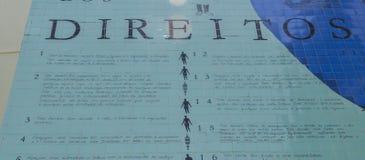 Το πρόγραμμα εκθέτει τα ανθρώπινα δικαιώματα και τη λυπημένη βραζιλιάνα κληρονομιά της σκλαβιάς Στοκ Φωτογραφίες