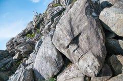 Το πρόσωπο πετρών, ο προορισμός πεζοπορίας στο Stavanger ares Στοκ Εικόνα