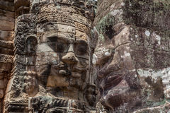 Το πρόσωπο πετρών Bayon σε Angkor Wat, Siem συγκεντρώνει, Καμπότζη Στοκ Εικόνα