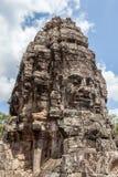 Το πρόσωπο πετρών Bayon σε Angkor Wat, Siem συγκεντρώνει, Καμπότζη Στοκ Φωτογραφία
