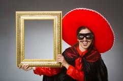 Το πρόσωπο που φορά το καπέλο σομπρέρο στην αστεία έννοια Στοκ Φωτογραφία