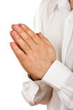το πρόσωπο προσεύχεται στοκ φωτογραφία με δικαίωμα ελεύθερης χρήσης