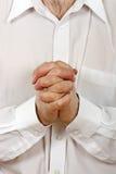 το πρόσωπο προσεύχεται στοκ φωτογραφία