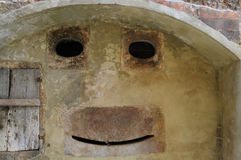 Το πρόσωπο στον τοίχο Στοκ Εικόνες