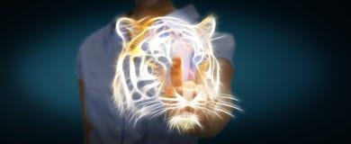 Το πρόσωπο σχετικά με διακυβευμένη τη fractal tinger απεικόνιση τρισδιάστατη δίνει Στοκ φωτογραφία με δικαίωμα ελεύθερης χρήσης