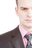 Το πρόσωπο του επιχειρηματία Στοκ Φωτογραφία