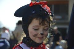 Το πρόσωπο του κοριτσιού Στοκ Εικόνες