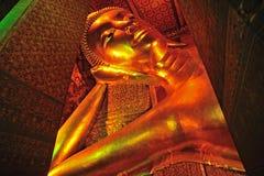 Το πρόσωπο του ξαπλώματος του αγάλματος του Βούδα Στοκ φωτογραφίες με δικαίωμα ελεύθερης χρήσης