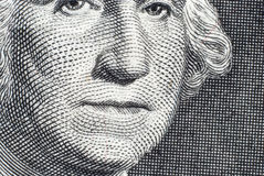 Το πρόσωπο του George Washington Στοκ φωτογραφία με δικαίωμα ελεύθερης χρήσης
