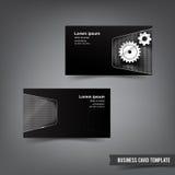 Το πρότυπο επαγγελματικών καρτών έθεσε το διάνυσμα ι στοιχείων χρωμίου 035 και μετάλλων Στοκ Εικόνες