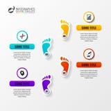 Το πρότυπο σχεδίου infographics υπόδειξης ως προς το χρόνο με πληρώνει διάνυσμα Στοκ Φωτογραφία