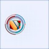 Το πρότυπο σχεδίου με τρεις διαστάσεις κυβίζει καλλιτεχνικό που σχεδιάζεται μέσα της κλιμακωτής φουτουριστικής συσκευής απεικόνιση αποθεμάτων