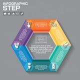 Το πρότυπο σχεδίου Infographic μπορεί να χρησιμοποιηθεί για το σχεδιάγραμμα ροής της δουλειάς, dia Στοκ φωτογραφίες με δικαίωμα ελεύθερης χρήσης